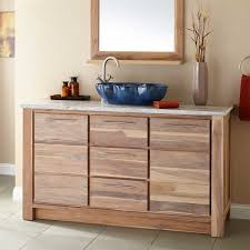 simple teak bathroom vanity home design great creative with teak