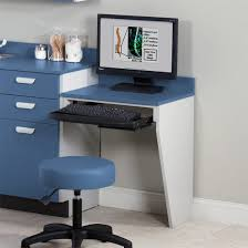 computer station wall mount desk with 1 leg letmedco