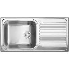 Single Bowl Right Hand Drainboard Topmount Stainless Steel Kitchen
