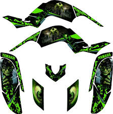 yamaha raptor 660 incredible hulk atv graphics kit kit by