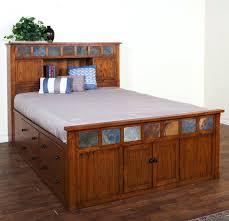 Oak Bookcase Headboard Bookcase Bookcase Headboard Queen Solid Wood Queen Platform