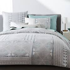 organic sateen dynasty king sham dusty blue duvet count and