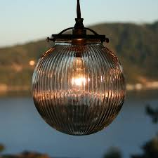 glass globe pendant light glass globe pendant light helpformycredit com ribbed fixture