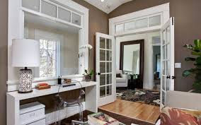 Dining Room With White Walls And Espresso French Door Beautiful - Dining room with french doors
