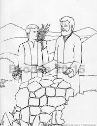 abraham and isaac sacrifice bible colouring page by jorele on etsy