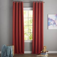 Pink And Orange Curtains Orange And Teal Curtains Wayfair