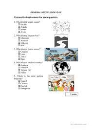 17 free esl general knowledge worksheets