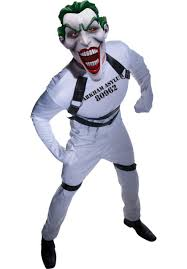 strait jacket joker costume batmans arkham asylum fancy dress