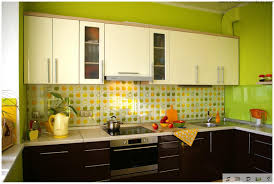 blue and yellow kitchen ideas yellow kitchens with oak cabinets pleasant home design