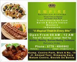 id d o cuisine empire restaurant picture of empire restaurant lounge batam