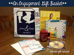 engagement gift basket it in the mitten engagement gift basket
