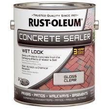 rust oleum 1 gal concrete wet look sealer 260431 the home depot