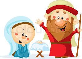 funny christmas nativity scene with holy family christmas crib