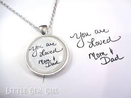 graduation jewelry gift custom handwriting keychain or necklace graduation going away