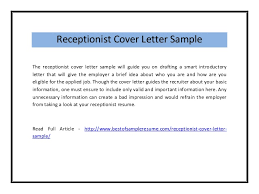 Samples Of Receptionist Resumes by Press Assistant Cover Letter