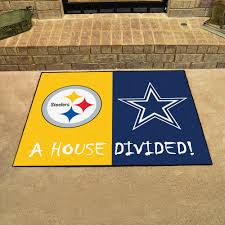 steelers dallas cowboys house divided mat