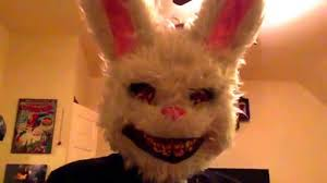 rabbit mask halloween scary fluffy white bunny mask youtube