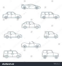 dark green station wagon dark outline body types cars classification stock illustration