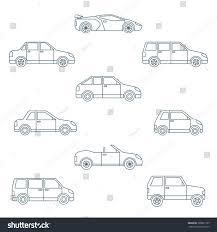 dark green station wagon dark outline body types cars classification stock illustration