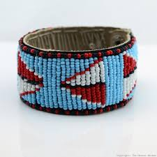 beaded leather cuff bracelet images Maasai bead leather bracelet cuff 400 33 jpg