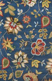 Floral Area Rug Hacienda Feria Hac05 Medium Navy Floral Area Rug 3 6 X 5 6 By
