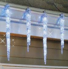 Outdoor Icicle Lights Twinkling Icicle Lights Ebay
