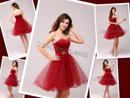 wear red short prom dresses like a star wedding dresses prom