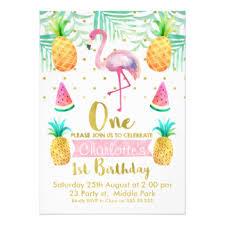 birthday invitations flamingo birthday invitations announcements zazzle