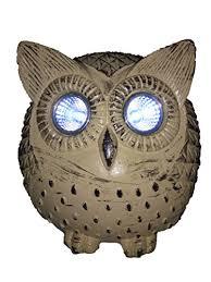 Owl Patio Lights Lightahead Solar Owl Light Poly Resin Owl With Led Eye Powered By