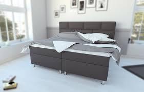Komplettes Schlafzimmer Auf Ratenzahlung Sam Boxspringbett Hotelbett 180 X 200 Cm Stoff Grau Olivia