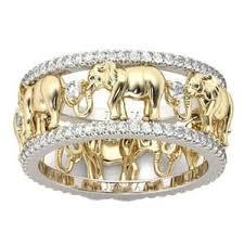 antique elephant ring holder images Pure copper antique gold color 3d elephant ring gili 39 s jpg