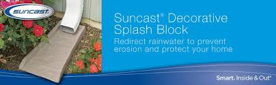 Decorative Splash Block Amazon Com Suncast Sb24 Rain Gutter Downspout Splash Block Light