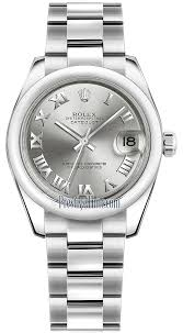 rolex oyster bracelet stainless steel images 178240 rhodium roman oyster rolex datejust 31mm stainless steel jpg