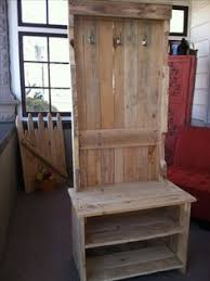 entryway coat rack and bench made from pallets pallet projects
