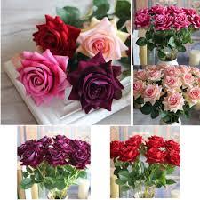 Home Decor Silk Flower Arrangements Big Sale 1pcs Valentine U0027s Rose Spring Artificial Fake Flower