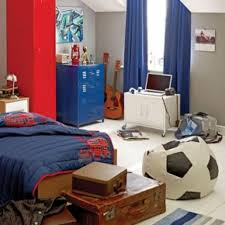 Blue And Red Striped Rug Bedroom Endearing Boy Kid Blue And Red Bedroom Decoration Using