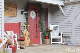 farmhouse christmas front porch lehman lane