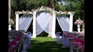 home garden wedding decoration ideas youtube