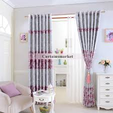 Silver Purple Curtains Pattern Curtains In Pink And Silver Of Jacquard Style