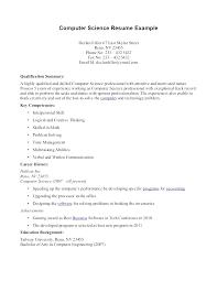unique best resume sample computer science best ideas of sample
