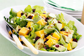 lettuce avocado and mango salad
