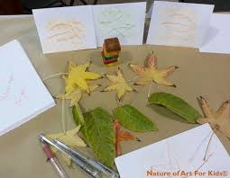 thanksgiving 2014 cards thanksgiving crayon leaf rubbing cards kids art ecokidsart com