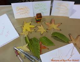 thanksgiving crayon leaf rubbing cards kids art official blog