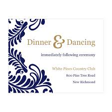 reception cards wedding reception cards