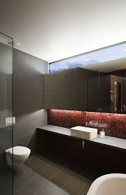 Sleek Modern Furniture by Sleek Modern Bathroom With Hidden Lighting At New Zealand Home