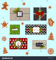 wrapped christmas boxes present boxes vector illustration wrapped stock vector