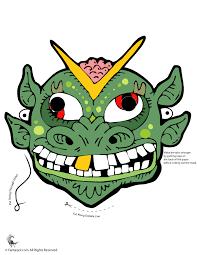 lizard man printable halloween mask woo jr kids activities