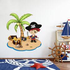 kinderzimmer pirat deko wandtattoos wandbilder mit piraten thema fürs kinderzimmer