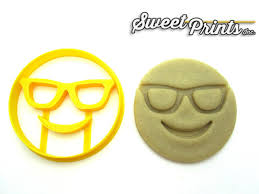 cookie emoji sunglass face emoji cookie cutter sweet prints inc