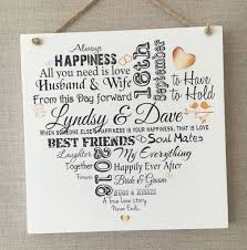 wedding anniversary plaques wedding anniversary personalised typography wooden plaque sign
